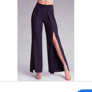 Bebe Katrina Flared Split Pants 00 NWT